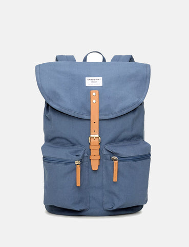 Sandqvist Roald Ground Backpack - Dusty Blue