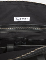 Sandqvist Damien Weekend Bag (Leather) - Black