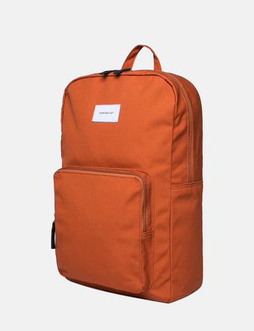 Sandqvist Kim Ground Backpack (Canvas) - Rust Red