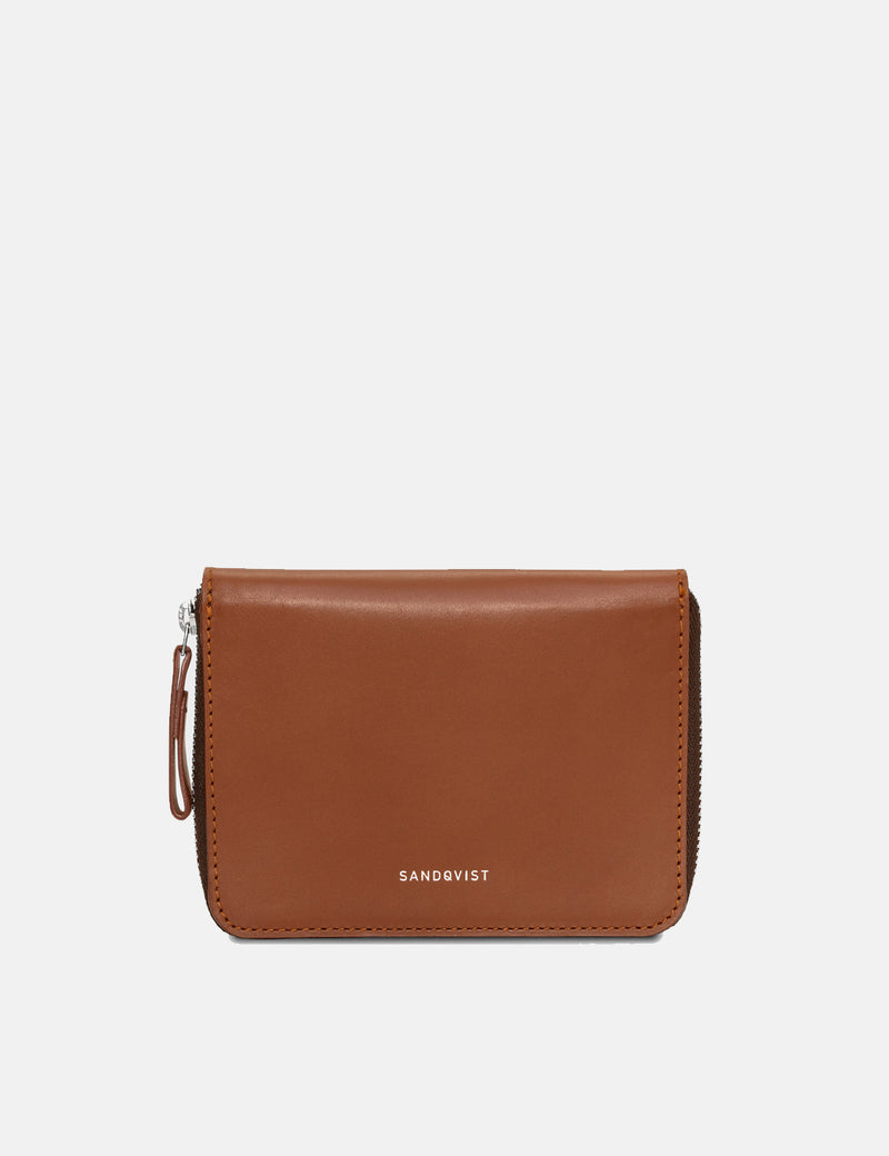 Sandqvist Amanda Wallet (Leather) - Cognac Brown