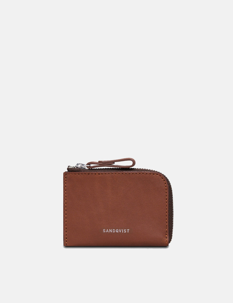 Sandqvist Eben Wallet (Leather) - Cognac Brown
