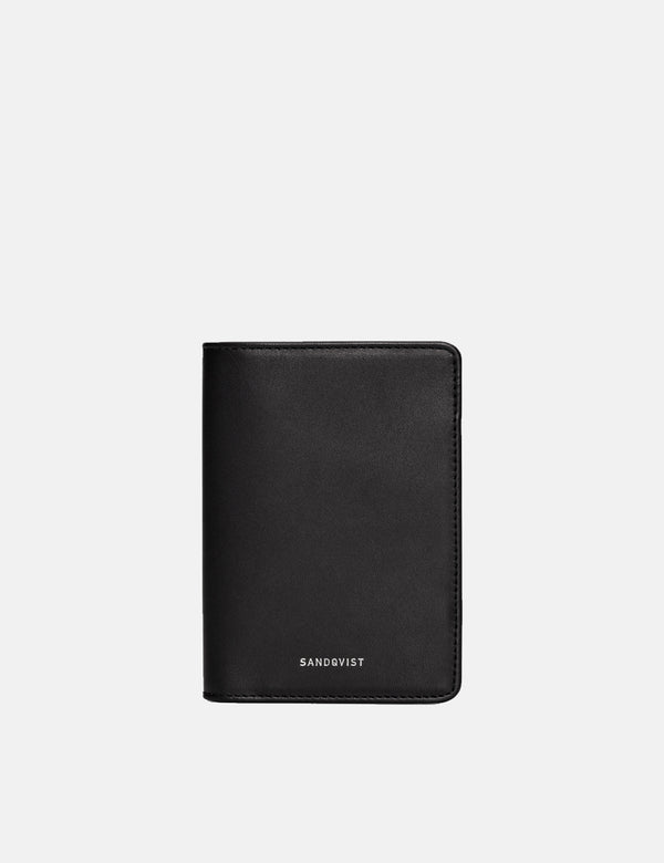 Sandqvist Malte Wallet (Leather) - Black