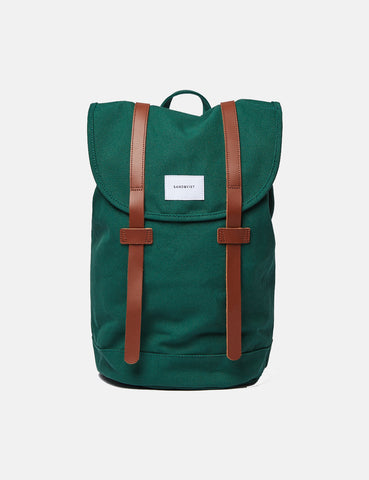 Sandqvist Stig Backpack (Canvas) - Forest Green