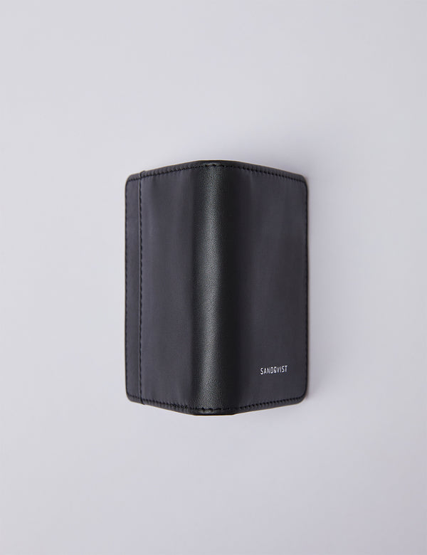 Sandqvist Stellan Card Holder (Leather) - Black/Black