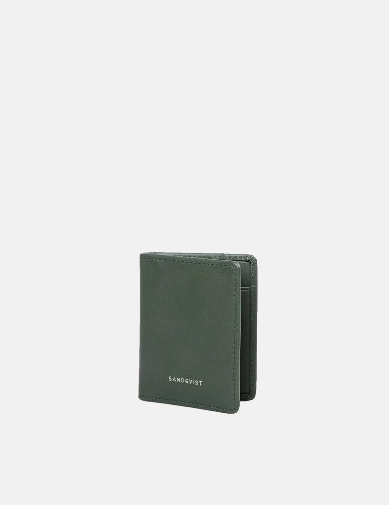 Sandqvist Titus Card Holder (Leather) - Green