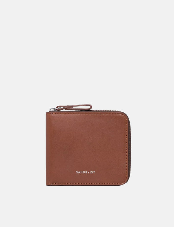 Sandqvist Tyko Wallet (Leather) - Cognac Brown