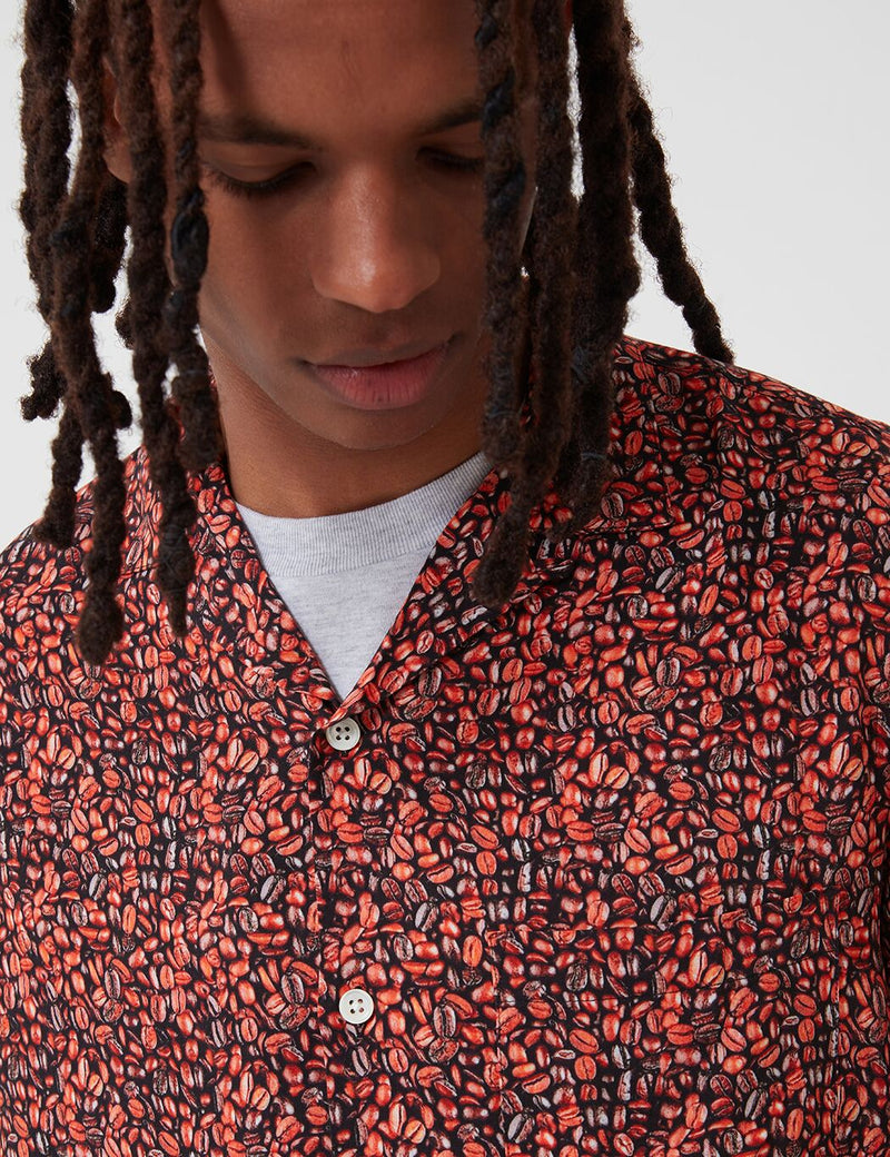 Portuguese Flannel Coffee Shirt - Red