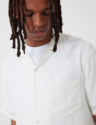 Portuguese Flannel Canal Shirt - White