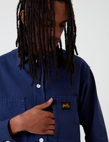 Stan Ray Prison Shirt (Overdyed) - Navy Blue