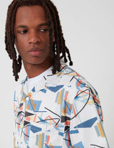 Portuguese Flannel Geometry One Shirt - White/Blue