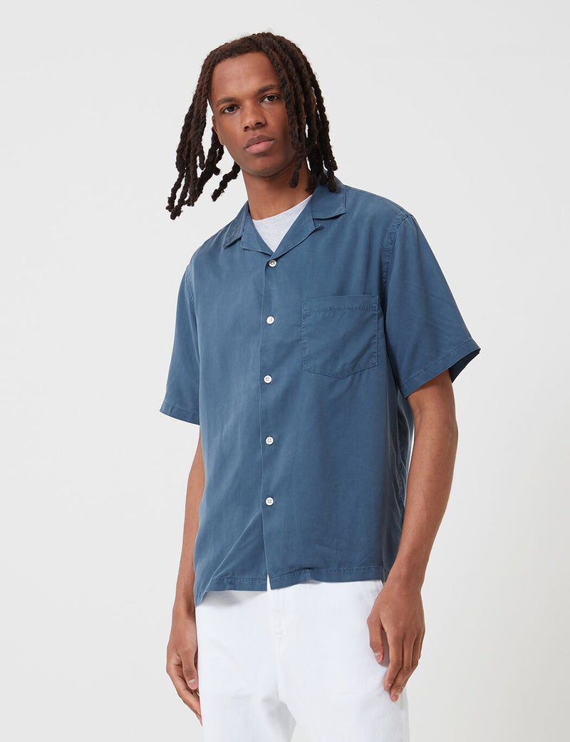 Portuguese Flannel Dogtown Shirt - Blue