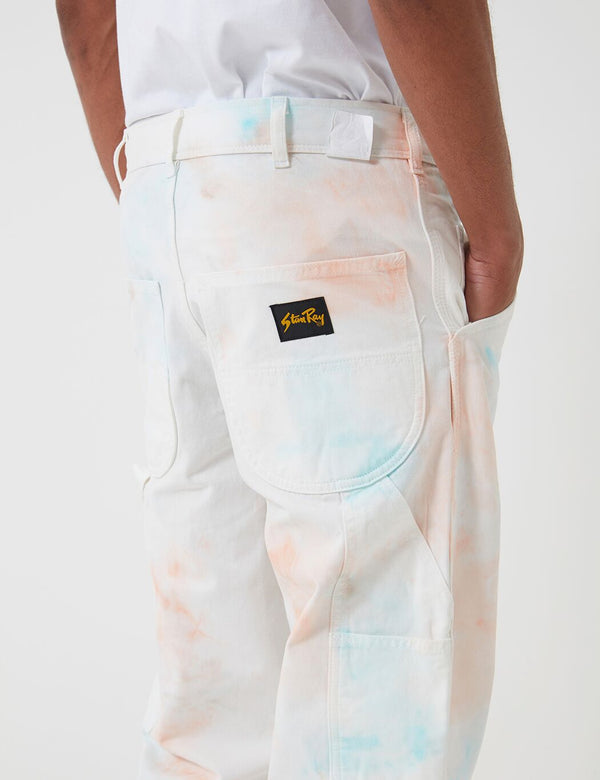 Stan Ray Painter Pant - Coral/Parrott Tye Dye