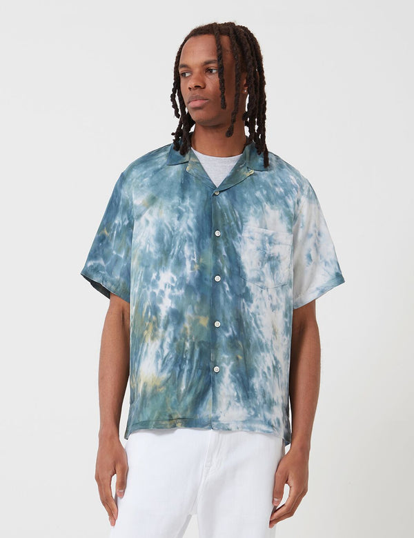 Portuguese Flannel Messy Dogtown Shirt - Blue Tiedye