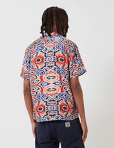 Portuguese Flannel Abstract Nature Shirt - Red