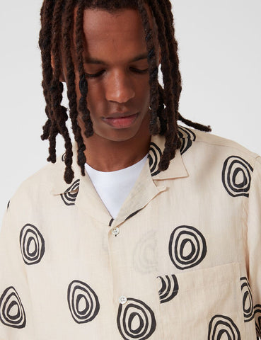 Portuguese Flannel Aboriginal Shirt - Cream