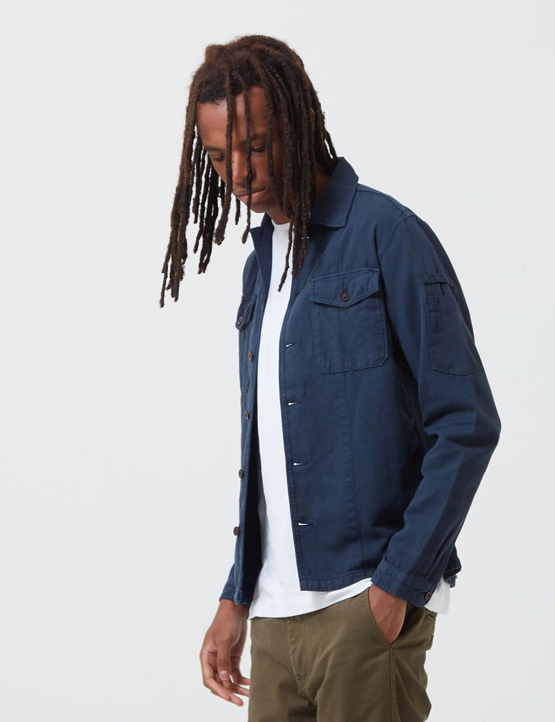 Portuguese Flannel Champ Jacket - Blue
