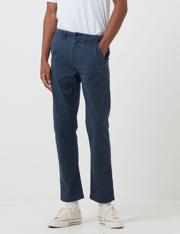 Portuguese Flannel Labura Trousers - Navy Blue