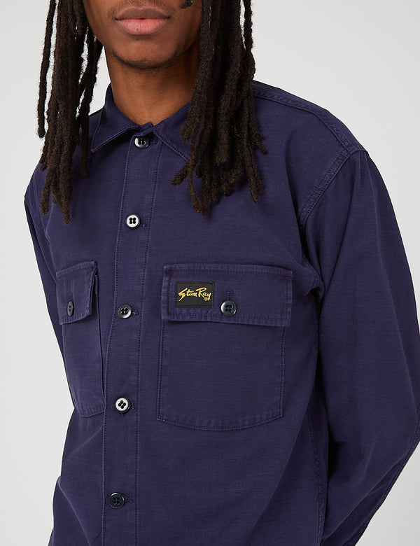 Stan Ray CPO Shirt - Navy Blue Sateen