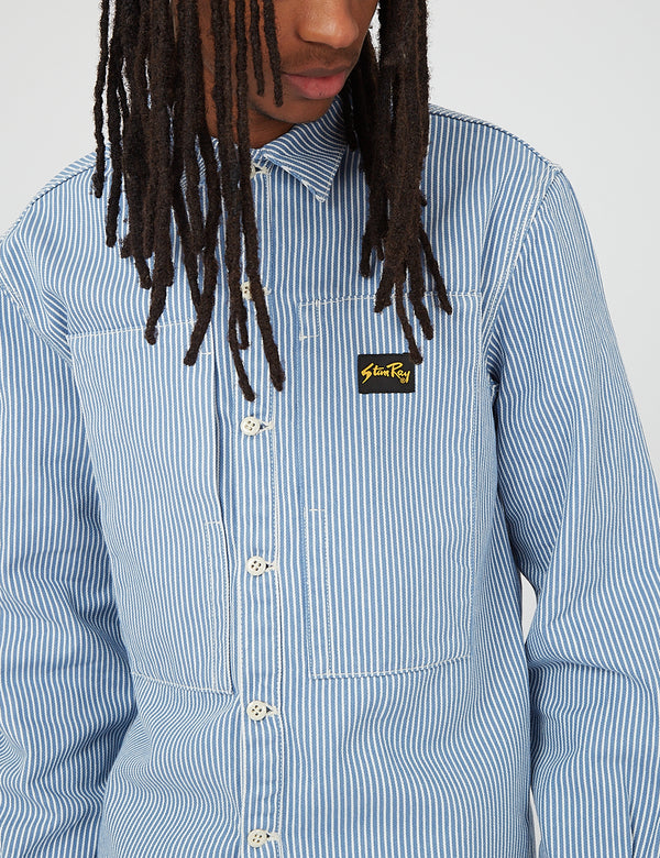Stan Ray Prison Shirt - Washed Hickory Blue
