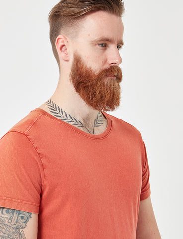 Suit Bart Sun Bleached T-Shirt - Dusty Orange