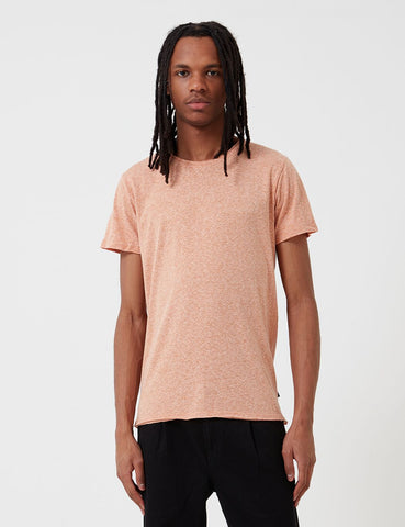 Suit Hawk Raw Edge T-Shirt - Dust Orange