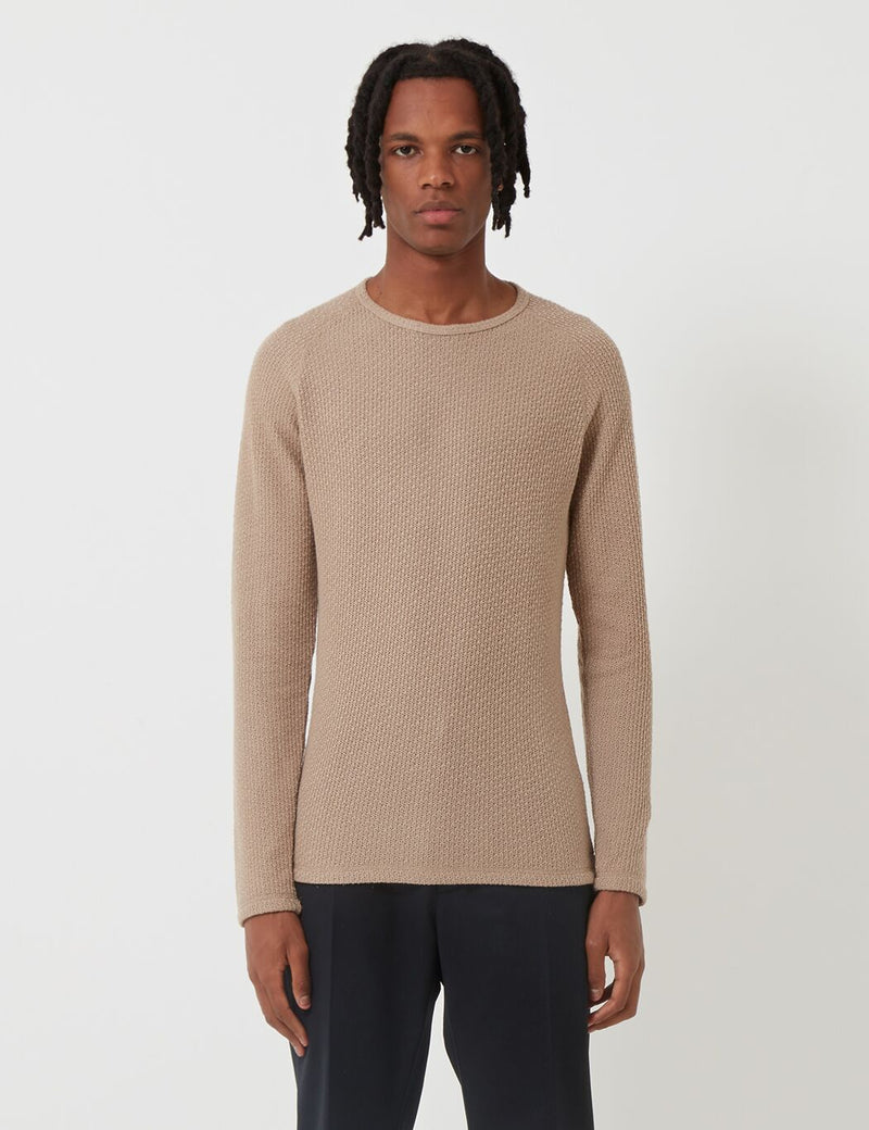 Suit Nut Jumper - Light Brown