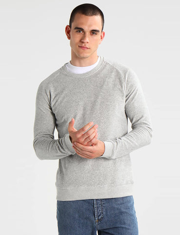 Suit Denmark Herman Velour Sweatshirt - Light Grey