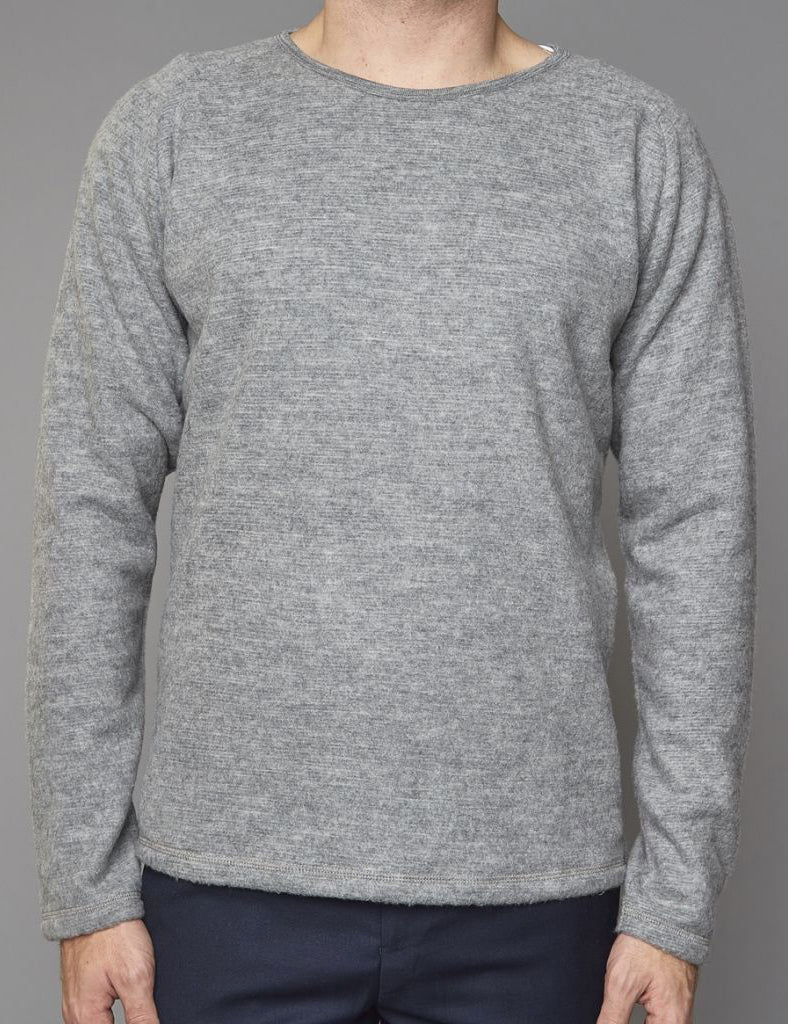 Suit Immanuel Sweatshirt (Merino Wool) - Grey Melange | URBAN EXCESS.
