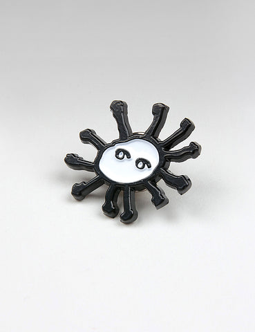 SCRT Sun Pin - Black/White