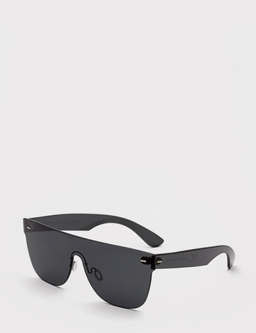 Super Tuttolente Flat Top Sunglasses - Black