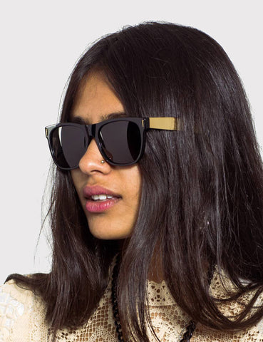 Super Classic Francis Sunglasses (Large) - Black/Gold
