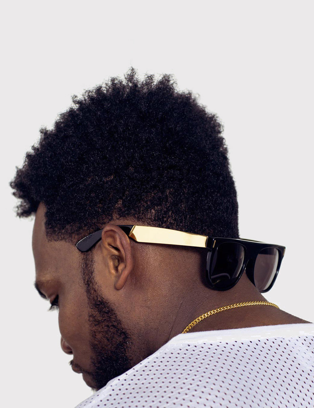 Super Flat Top Francis Sunglasses (Large) - Black/Gold