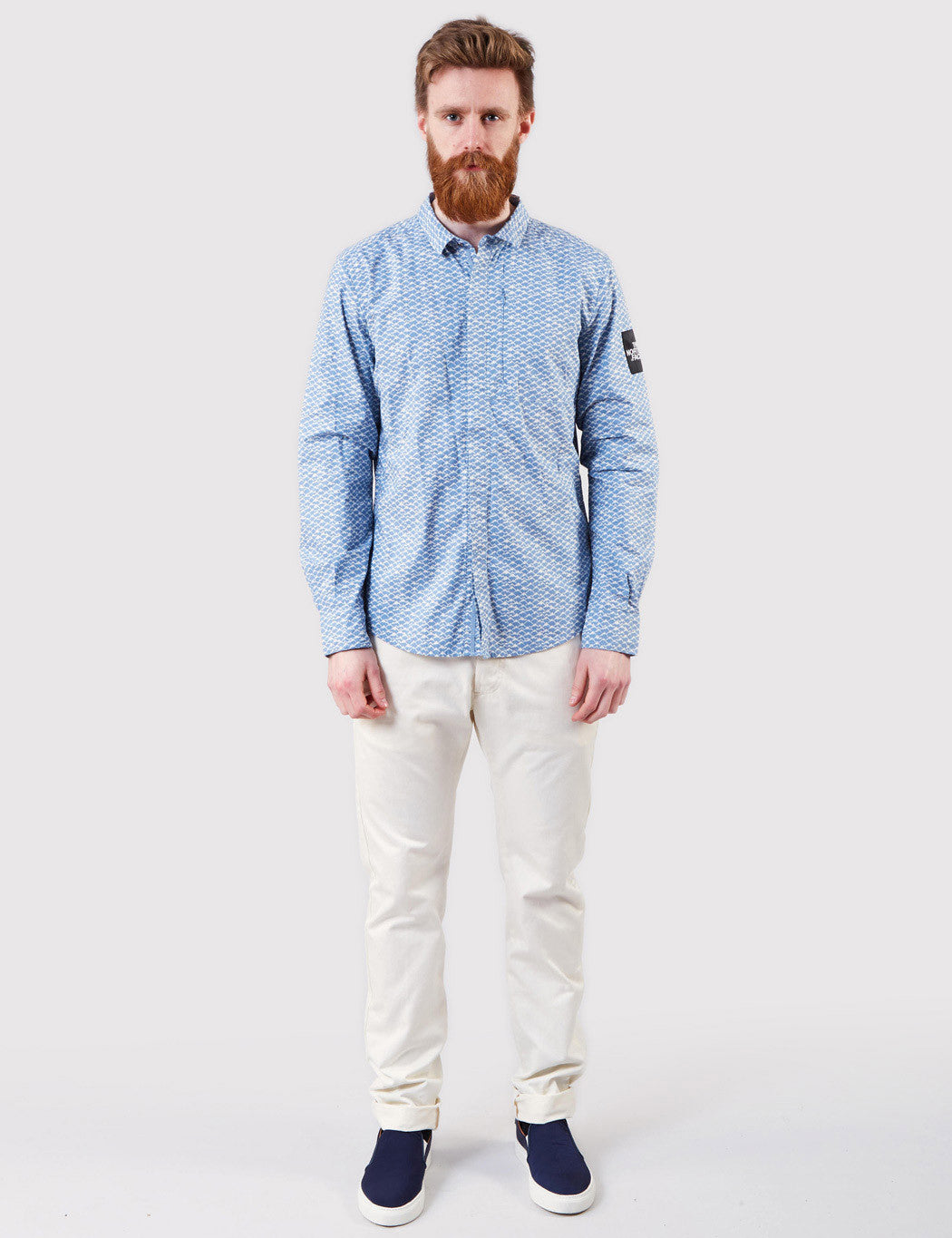North Face Mountain Shirt - Faded Denim Blue