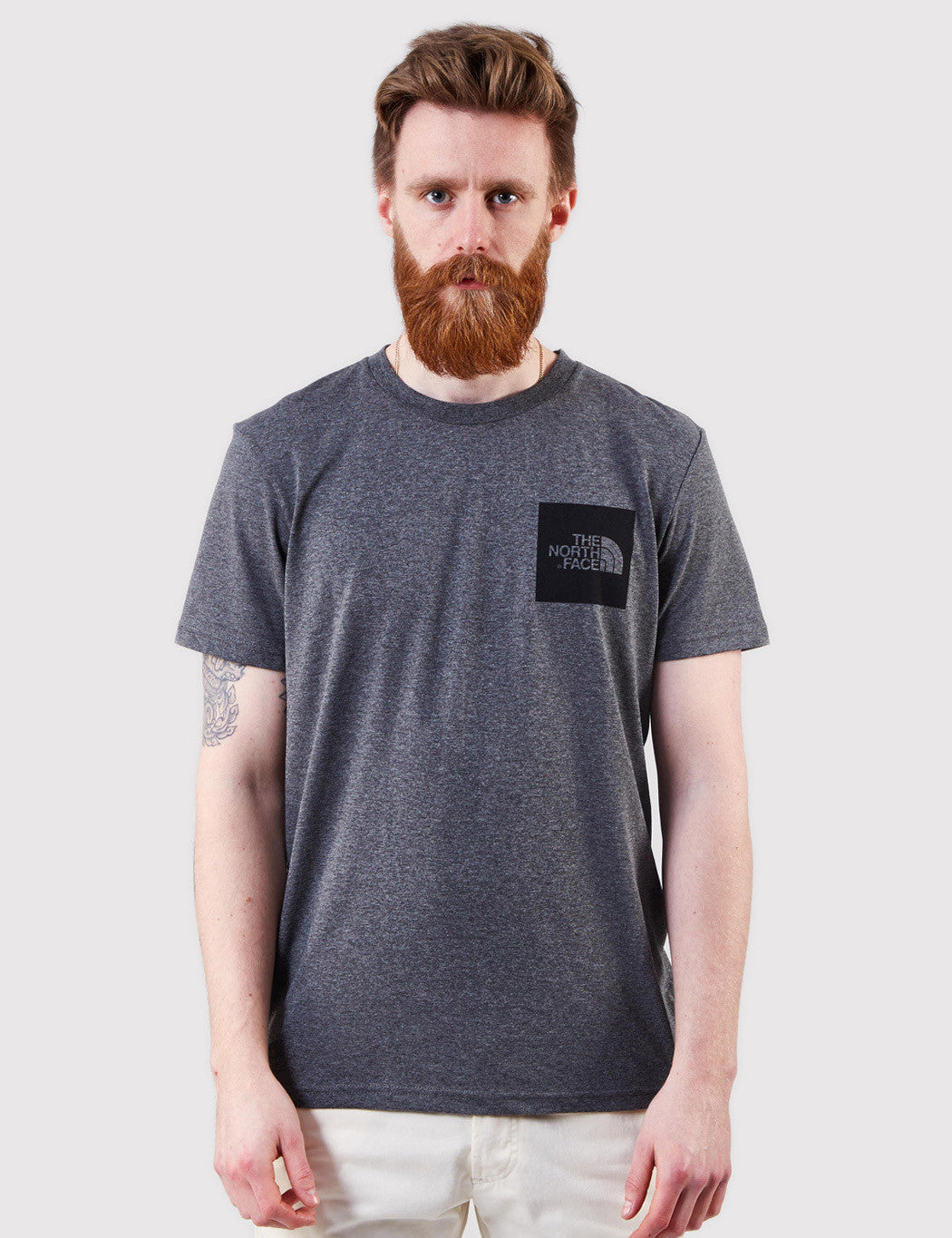 North Face Fine T-Shirt - Medium Grey Heather