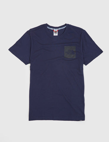 North Face Fine Pocket T-Shirt - Urban Navy