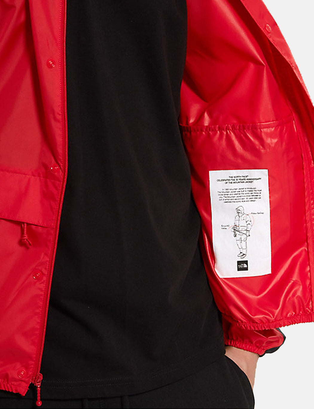 North Face 1985 Sea Cel Mountain Jacket Red Black Urban Excess