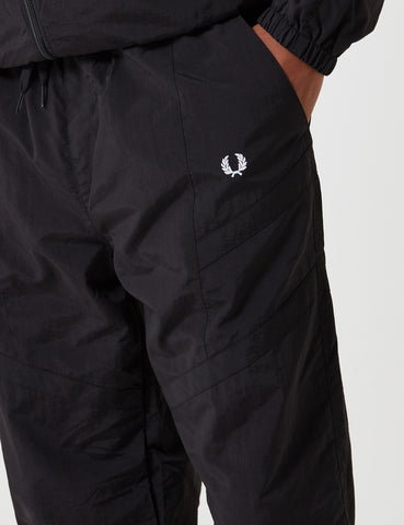 Fred Perry Monochrome Shell Suit Trouser - Black