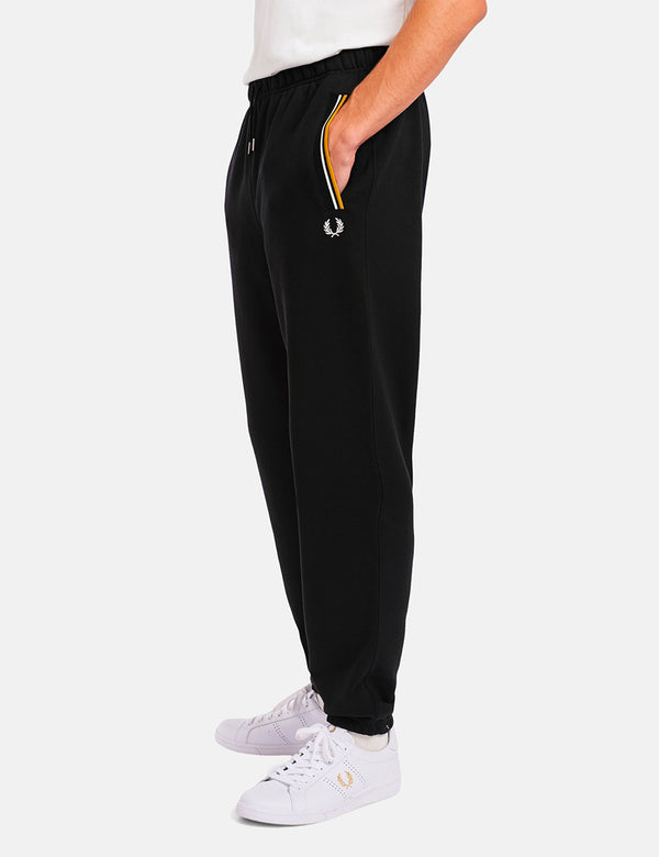 Pantalon de survêtement Fred Perry Loopback - Noir