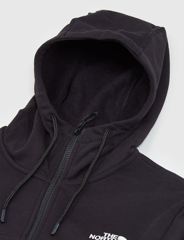 North Face Z-Pocket Zip Up Hooded Sweatshirt - Black