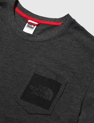 North Face Fine Pocket T-Shirt - Dark Grey Heather