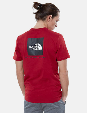 North Face Red Box T-Shirt - Cardinal Red