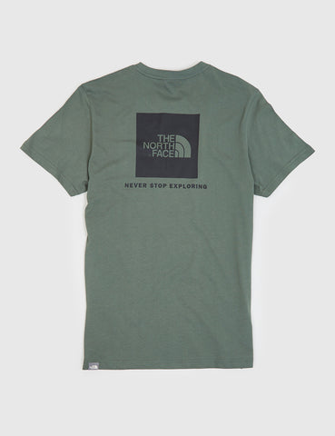 North Face Red Box T-Shirt - Thyme Green