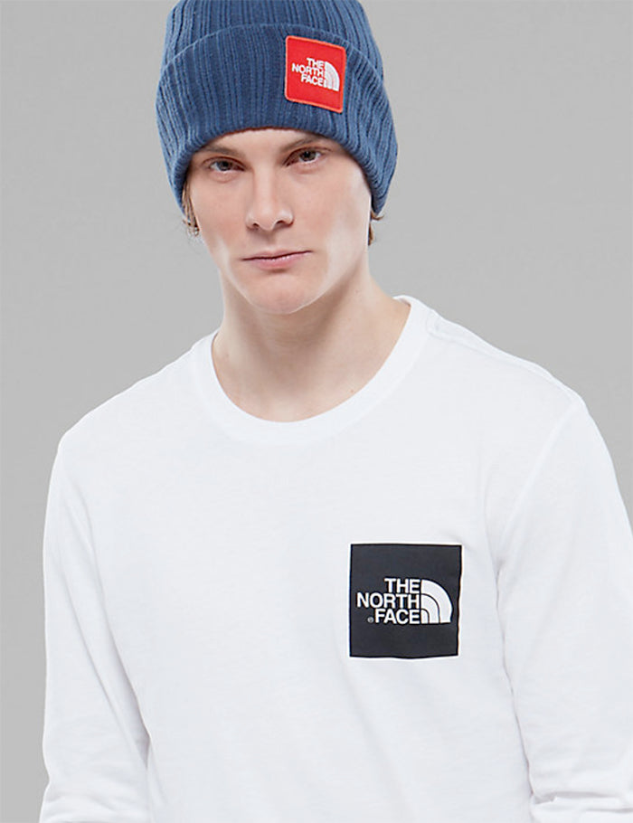 North Face Fine Long Sleeve Pocket T-Shirt - White