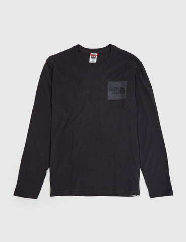 North Face Fine Long Sleeve Pocket T-Shirt - Black
