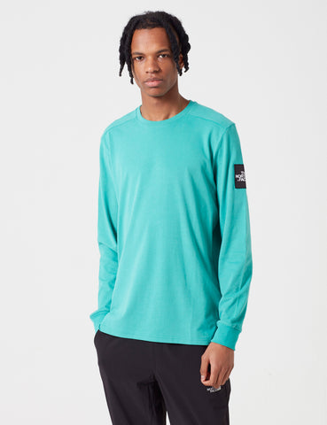 North Face Fine 2 Long Sleeve T-Shirt - Porcelain Green