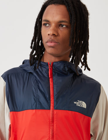 North Face Fanorak Pullover Jacket - Fiery Red/Urban Navy/PYTB
