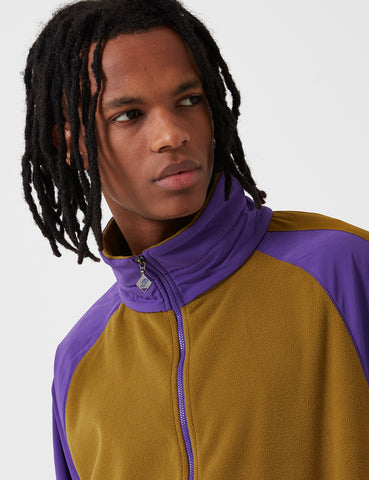 North Face EX Quarter Zip Fleece Sweater - Fir Green/Purple