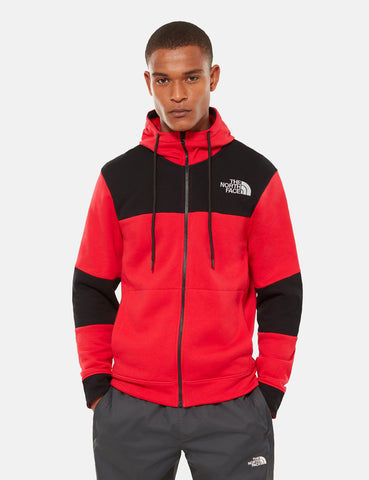 North Face Himalayan Full Zip Sweater - Red