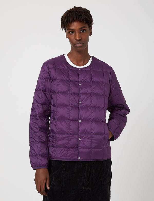 Taion Crew Neck Down Jacket - Purple