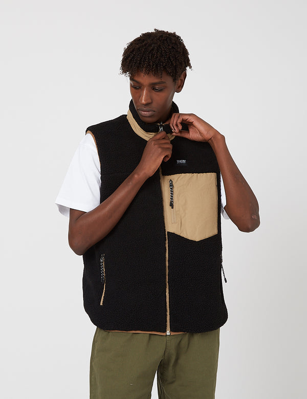 Taion Down x Boa Reversible Vest - Beige/Black